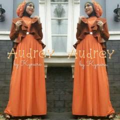 baju muslimah pesta Pusat-Gamis-Terbaru-Audrey-by-kynara-Orange