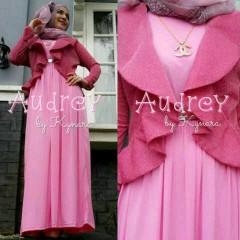 baju muslim elegan Pusat-Gamis-Terbaru-Audrey-by-kynara-Pink