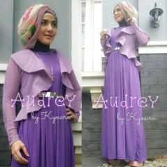 baju muslim hijab terbaru Pusat-Gamis-Terbaru-Audrey-by-kynara-Purple
