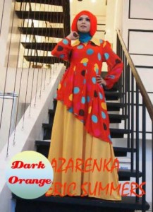baju muslimah pesta terbaru Pusat-Gamis-Terbaru-Azarenka-by-Ericsummer-Dark-Orange