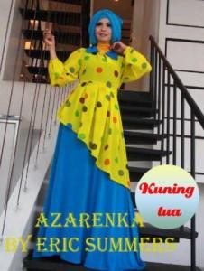busana untuk pesta Pusat-Gamis-Terbaru-Azarenka-by-Ericsummer-Kuning-tua