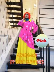 busana wanita muslim modern Pusat-Gamis-Terbaru-Azarenka-by-Ericsummer-Pink