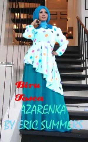 baju muslimah cantik Pusat-Gamis-Terbaru-Azarenka-by-Ericsummer-biru-tosca