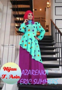busana muslim pesta anak perempuan  Pusat-Gamis-Terbaru-Azarenka-by-Ericsummer-hijau-telur-Asin