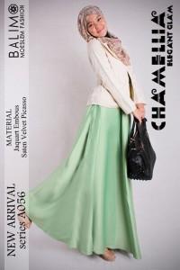 baju muslimah trendy  Pusat-Gamis-Terbaru-Balimo-Chamellia-Green