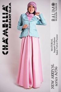 baju muslim terbaru 2014  Pusat-Gamis-Terbaru-Balimo-Chamellia-Pink