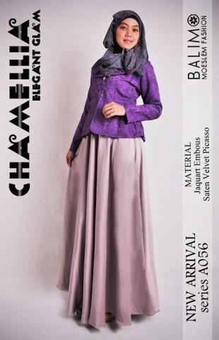 gamis wanita muslimah Pusat-Gamis-Terbaru-Balimo-Chamellia-Plum