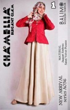 baju muslimah trendy Pusat-Gamis-Terbaru-Balimo-Chamellia-Vanila