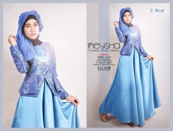 baju busana muslim modern Pusat-Gamis-Terbaru-Balimo-Neysha-Blue