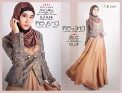 baju muslim modern ala hijabers Pusat-Gamis-Terbaru-Balimo-Neysha-Brown
