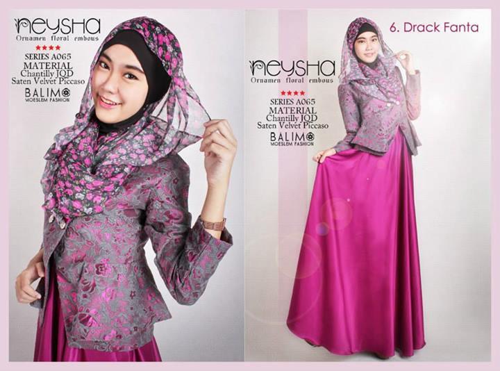 Balimo Neysha D Fanta Baju Muslim Gamis Modern