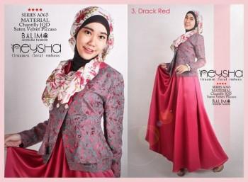 baju muslim modern trendy Pusat-Gamis-Terbaru-Balimo-Neysha-Dark-Red