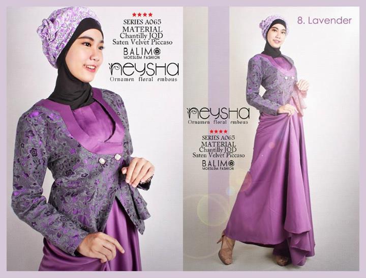 Balimo Neysha Lavender Baju Muslim Gamis Modern