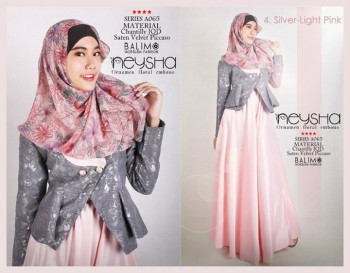 baju muslim modern terbaru Pusat-Gamis-Terbaru-Balimo-Neysha-Light-Pink