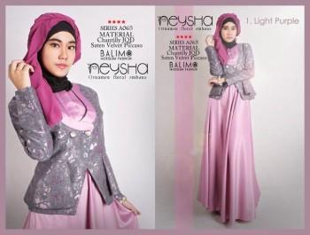 model baju muslim 2014 wanita Pusat-Gamis-Terbaru-Balimo-Neysha-Light-Purple