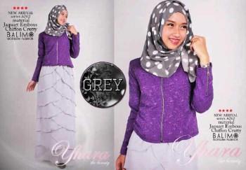 model busana muslim modern 2014 Pusat-Gamis-Terbaru-Balimo-Yhara-Grey