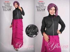 model baju muslim modern 2014 Pusat-Gamis-Terbaru-Balimo-Yhara-Magenta