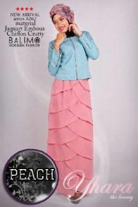 baju muslim modern full Pusat-Gamis-Terbaru-Balimo-Yhara-Peach
