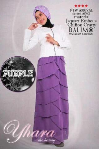 model baju muslim 2014 Pusat-Gamis-Terbaru-Balimo-Yhara-Purple