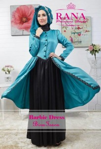 busana muslim modern 2014  Pusat-Gamis-Terbaru-Barbie-Dress-by-Rana-Princes-style-Biru-Tosca