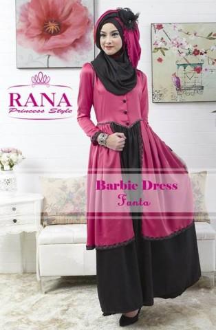 baju muslim modern wanita, Pusat-Gamis-Terbaru-Barbie-Dress-by-Rana-Princes-style-Fanta