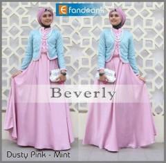 baju muslim elegan Pusat-Gamis-Terbaru-Beverly-by-Efandoank-Dusty-Pink
