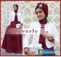 baju muslim terbaru Pusat-Gamis-Terbaru-Beverly-by-Efandoank-Marun