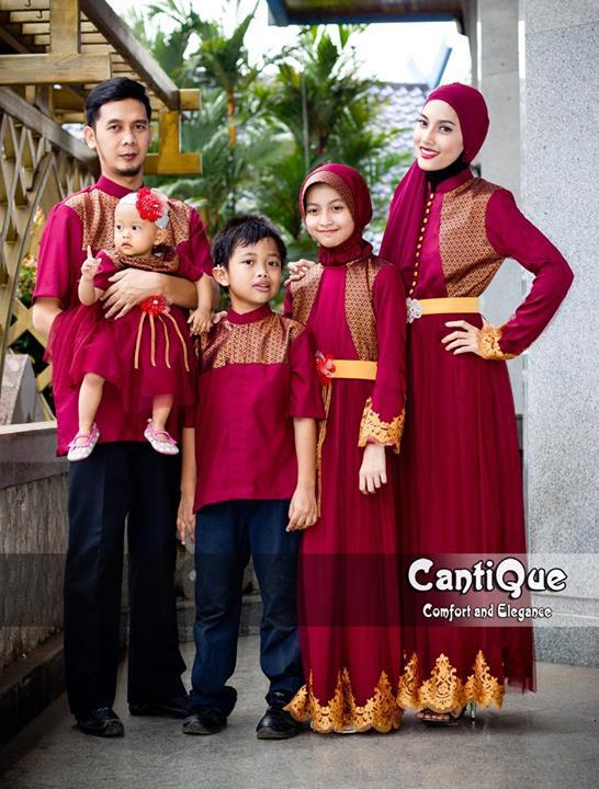 Cantique 1409 Merah Baju Muslim Gamis Modern