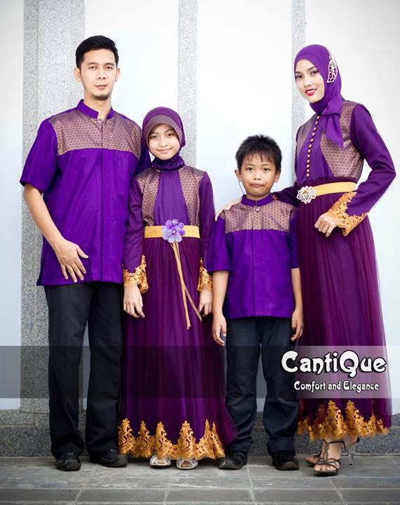 Cantique 1409 Ungu Baju Muslim Gamis Modern