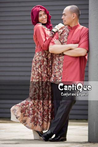 busana muslim bagus Pusat-Gamis-Terbaru-Cantique-Merah-Bata