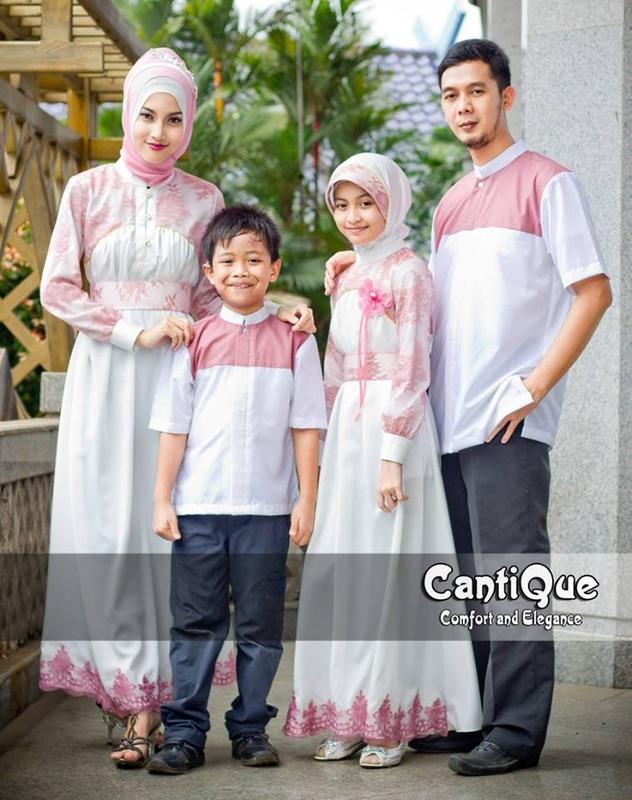 Cantique 1405 Putih Baju Muslim Gamis Modern