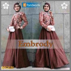 baju pesta muslim modern 2014 Pusat-Gamis-Terbaru-Embrody-Dress-by-Efandoank-Brown
