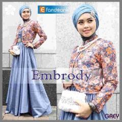 baju muslim modern Pusat-Gamis-Terbaru-Embrody-Dress-by-Efandoank-Grey