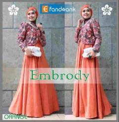 model baju muslim modern 2014 Pusat-Gamis-Terbaru-Embrody-Dress-by-Efandoank-Orange