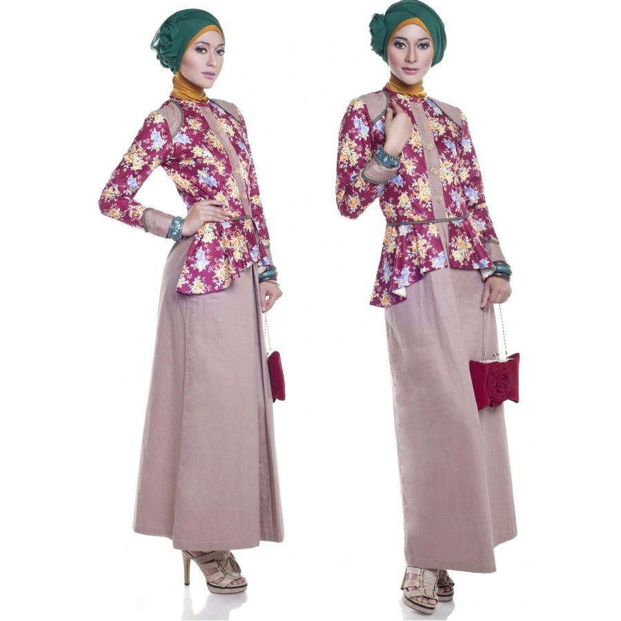 E 010413 Baju Muslim Gamis Modern