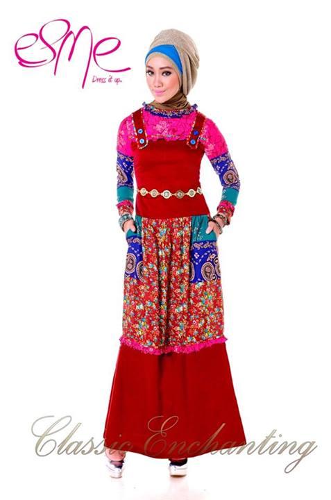 Classic enchanting e 020408 baju muslim gamis modern Baju gamis terbaru xxl