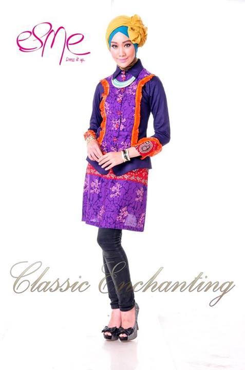 Classic Enchanting E 020413 Baju Muslim Gamis Modern
