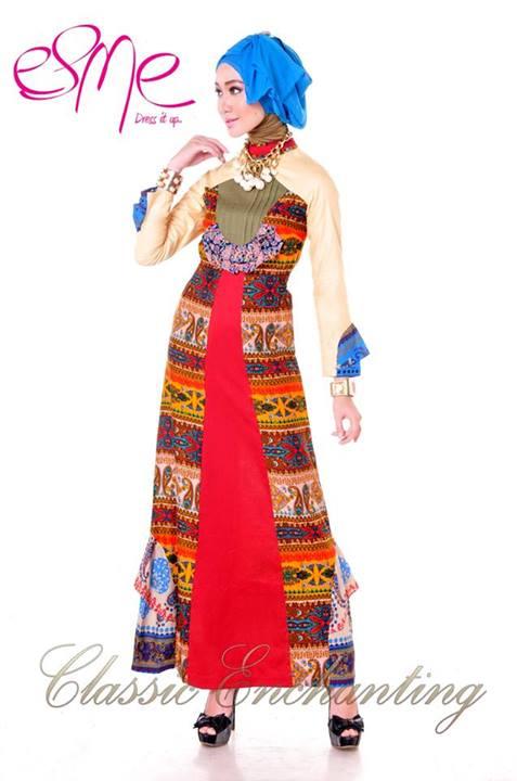 Classic Enchanting E 020414 Baju Muslim Gamis Modern