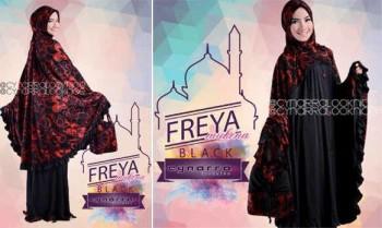 baju pesta muslimah Pusat-Gamis-Terbaru-Freeya-By-Cynarra-Black