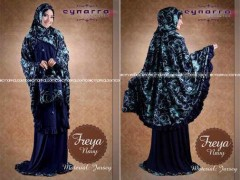 baju kerja muslim, Pusat-Gamis-Terbaru-Freeya-By-Cynarra-Navy