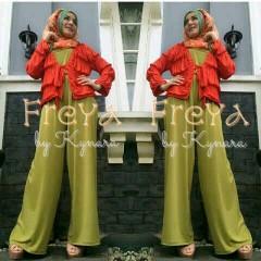 butik baju muslim elegant Pusat-Gamis-Terbaru-Freya-Hijau-Pupus