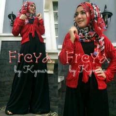baju muslimah pesta Pusat-Gamis-Terbaru-Freya-Hitam