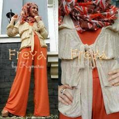 baju muslim bagus Pusat-Gamis-Terbaru-Freya-Orange