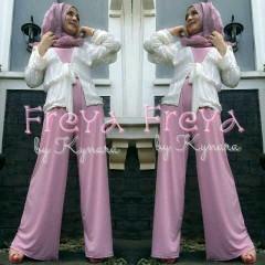 baju muslim pesta wanita Pusat-Gamis-Terbaru-Freya-Pink