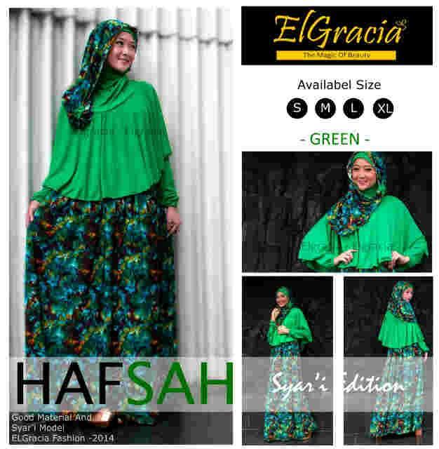 gamis hijab terbaru Pusat-Gamis-Terbaru-Hafsah-Syar'i-by-El-Gracia-Green