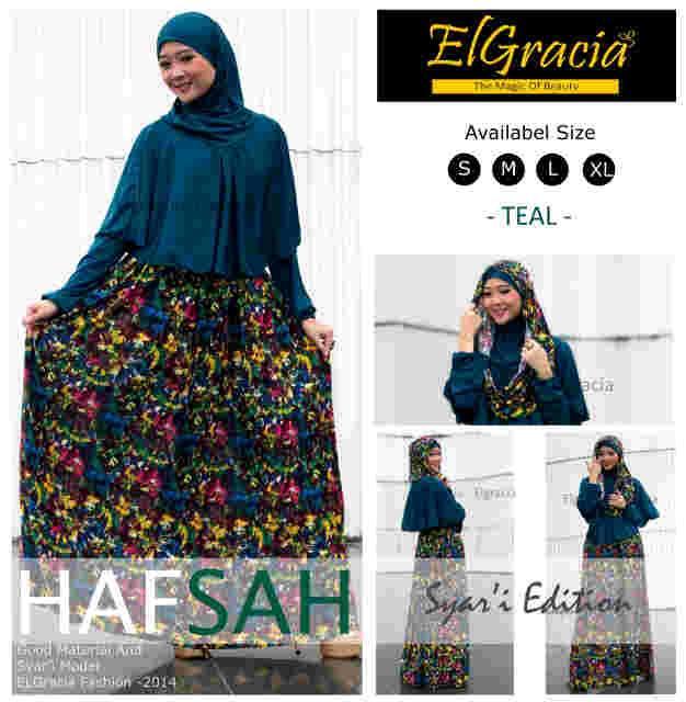 baju muslim terbaru 2014 Pusat-Gamis-Terbaru-Hafsah-Syar'i-by-El-Gracia-Teal