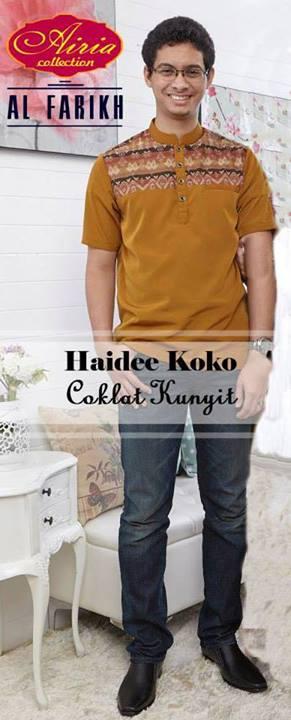 baju muslim modern untuk ke pesta Pusat-Gamis-Terbaru-Haidee-Koko-by-Airia-Coklat-Kunyit