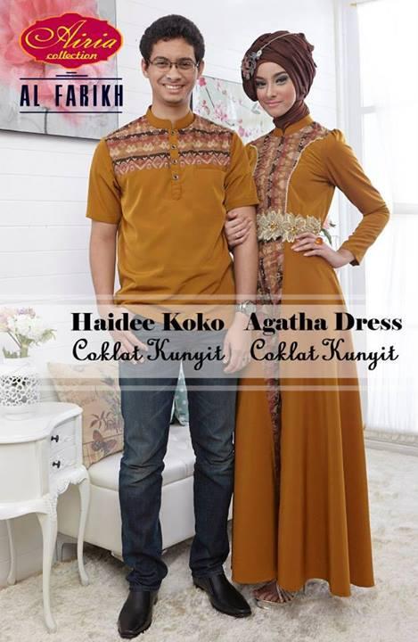 Haidee dan aghata kunyit baju muslim gamis modern Baju couple gamis dan koko