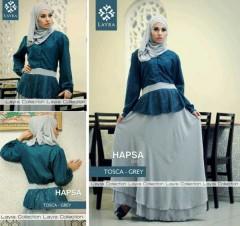 model baju pesta muslim modern, Pusat-Gamis-Terbaru-Hapsa-by-Layra-Tosca-Grey