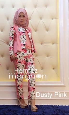 busana muslim trendy Pusat-Gamis-Terbaru-Hermez-by-Marghon-Dusty-Pink